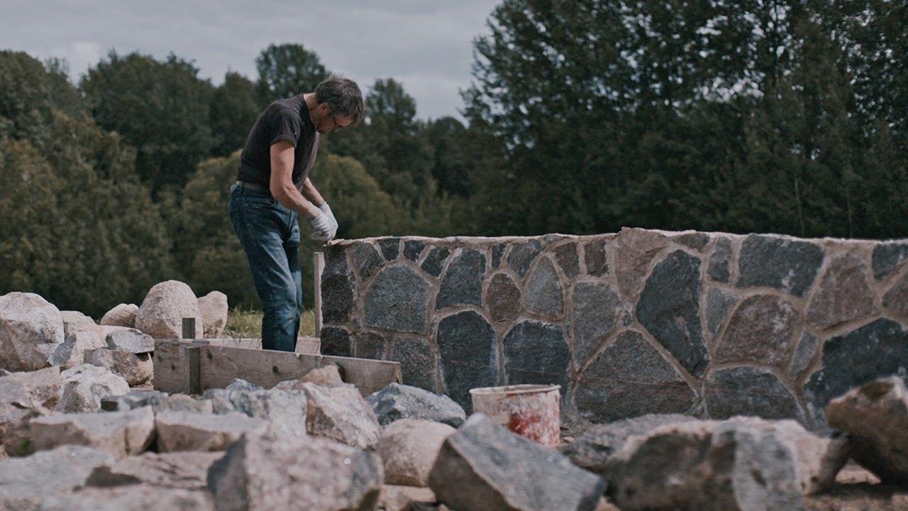 Making Zero Concrete Stone Foundation
