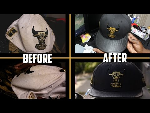 TURNING THIS OLD DESTROYED CHICAGO BULLS STRAPBACK INTO WEARABLE CUSTOM HAT!