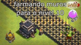 FARMANDO MUROS NV 10 - CLASH OF CLANS