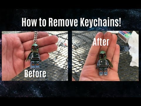 How To Remove A LEGO Minifigure Keychain