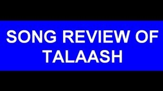 TALAASH - Movie review by me.I like to share something about thie nice movie.