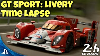 GT SPORT Speed Art: 1999 Toyota GT-ONE TS020 Tribute - Livery Time Lapse