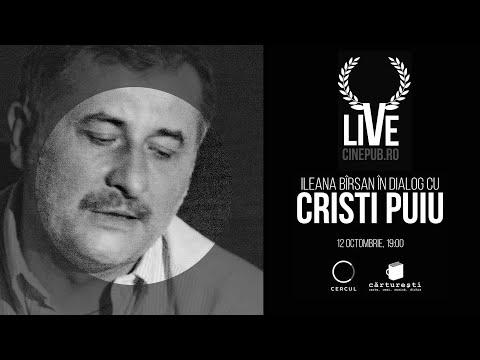 Cinepub Live: Ileana Bîrsan în dialog cu Cristi Puiu