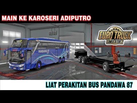 INTIP PROSES PEMBUATAN BUS PANDAWA 87 JETBUS 3+ TRIPLE AXEL SHD KAROSERI ADIPUTRO