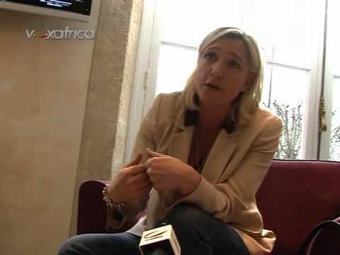 Vox Africa - Marine Le Pen (Front National) répond à VoxAfrica.com - 1/2