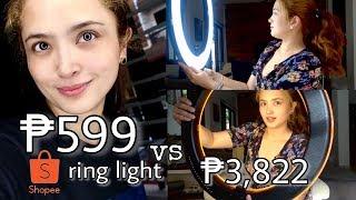 Unboxing Cheapest Shopee Ring Light vs Prestigio + Review
