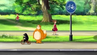 Азбука безопасности на дороге - Дорога и дорожные знаки (Уроки тетушки Совы) серия 4