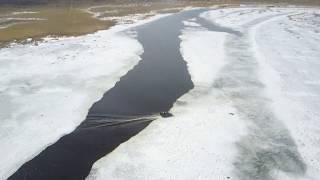 Аэролодка Берег на реке Исеть