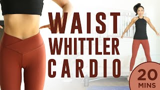 20 minute Waist Whittler Cardio Pilates Workout | 7 Day Ab Challenge (do this video every day)