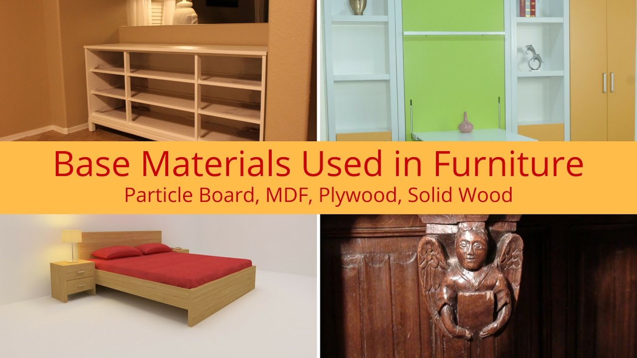 Materials used in furniture particle board mdf plywood