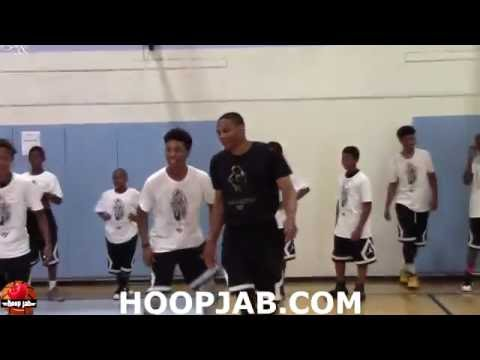 Russell Westbrook Doing Rebound Drills With Kids At His Free Basketball Camp In Los Angeles.HoopJab