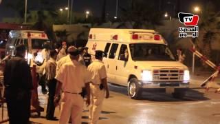 لحظة خروج جثامين «قضاة العريش» من مطار ألماظة