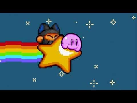 Nyan Kirby (Nya Nya Orange version)