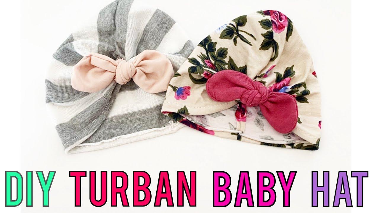 3dd2f4c1e9d12 BABY TURBAN HAT TUTORIAL - YouTube