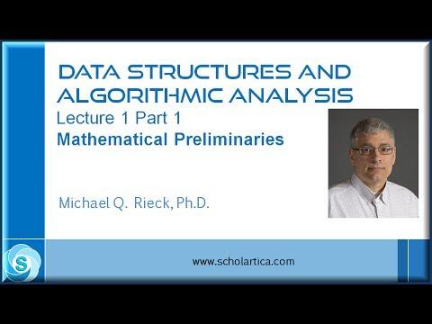 Algorithms Lecture 1 Part 1: Mathematical Preliminaries