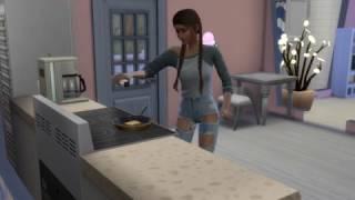 День из моей жизни в The sims 4 /пришли соседи /ем жареный сыр