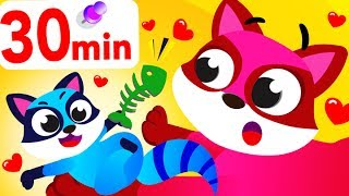 Little Racoon Sneaks Around, Tiger Dance, Where's my Bum?, Animals Compilation by Little Angel