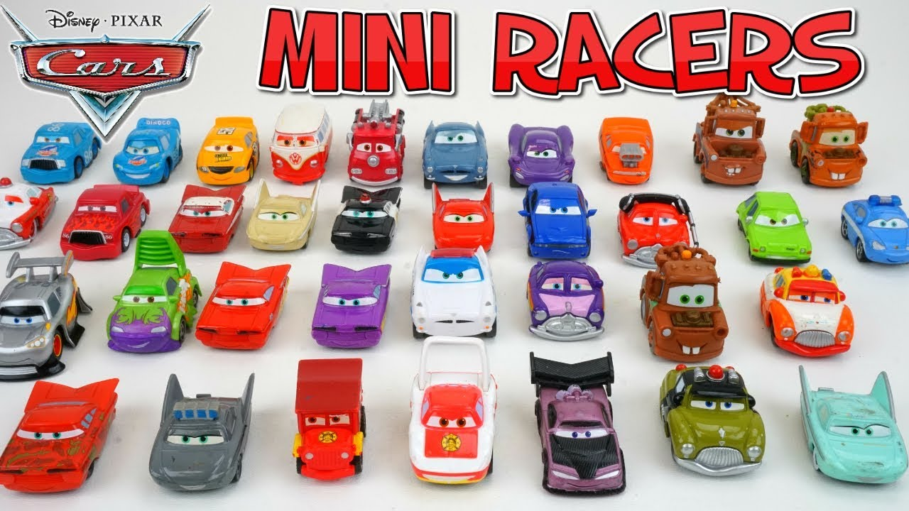 Disney Pixar Cars Mini Racer Cars Collection 45 Tiny Toy Car Characters Day 16 Youtube