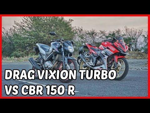 Pertama didunia Drag Vixion Turbo   Video Lucu Motor