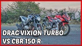 Pertama didunia Drag Vixion Turbo | Video Lucu Motor