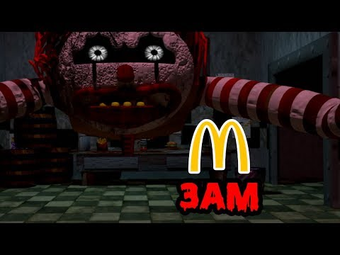 DONT HIDE IN MCDONALDS AT 3AM (CHASED BY RONALD MCDONALD) FIVE NIGHTS AT RONALD'S