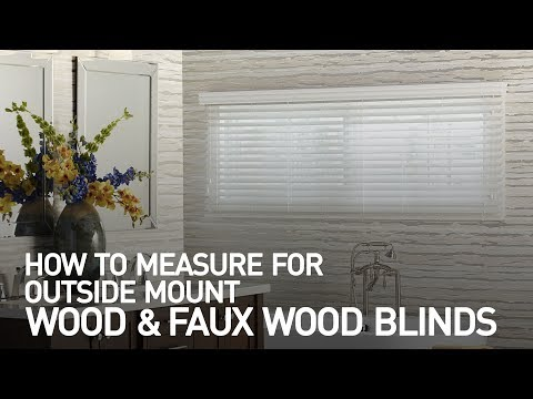 How To Measure For Outside Mount Wood Or Faux Blinds