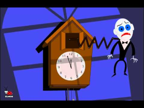 funny halloween clock animated free greeting e cards youtube - Free Animated Halloween Cards