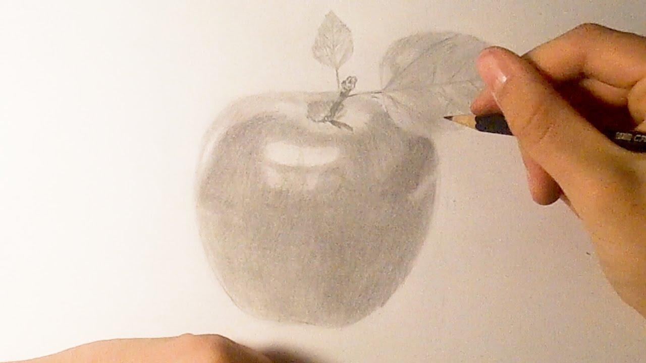 Comment dessiner une pomme r aliste tutoriel youtube - Dessiner un fruit ...