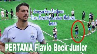 Lihat !! Flavio Beck saat dengarkan anthem pertama kali