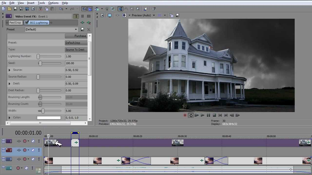 How To Make Realistic Lightning With Sony Vegas Pro 10 Tutorial For Motion  Pictures 2016