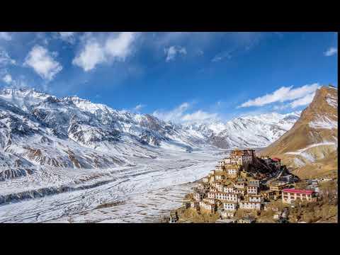 Key Monastery Amazing Sunny Day Time lapse