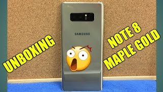 Samsung Galaxy Note 8 Maple Gold unboxing