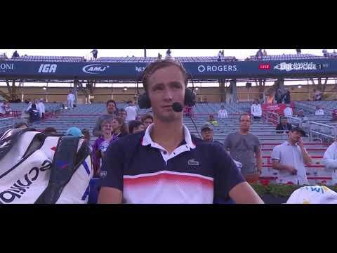 Интервью Даниила Медведева после выхода в финал турнира в Монреале