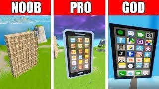 Fortnite NOOB vs PRO vs GOD: IPHONE BUILD CHALLENGE in Fortnite
