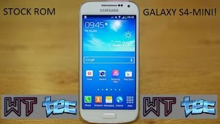 Stock Rom Samnsung galaxy s4 mini Gt-i9192 2017