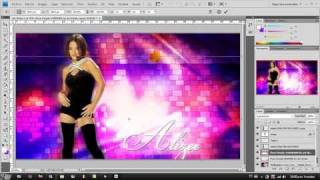 Alizee Wallpaper Photoshop Tutorial