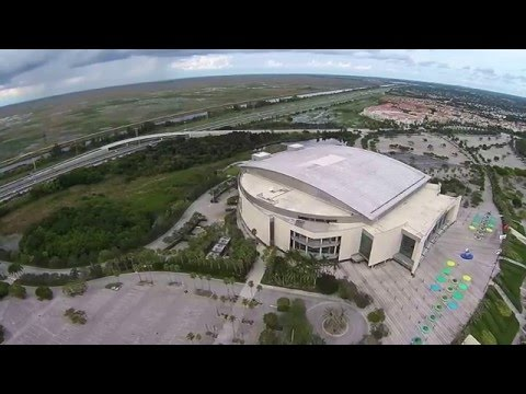 Florida Panthers BB&T Center Aerial Video with DJI Phantom 3 Pro