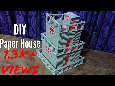 How to make a Paper House/DIY Paper House Tutorial/Paper House Crafts