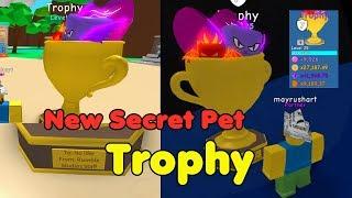 New Secret Pet Trophy! New Best Pet In Game OP - Bubble Gum Simulator