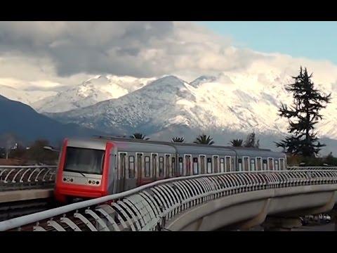 Metro línea 4 y la cordillera nevada - 16/07/2011