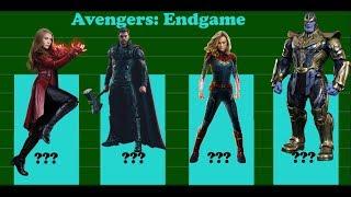 Avengers: Endgame - MCU Power Levels