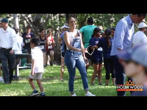 J-Lo and Marc Anthony Play Nice For Emme&39;s Track Meet in Miami