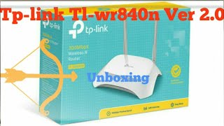 TP-LINK TL-WR840N v2 0 300Mbps Wireless N Router Dual External Antenna Unboxing ll Mixed Media