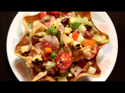 Mexican Style Salad | Healthy Salad Recipe | Ruchi's Kitchen