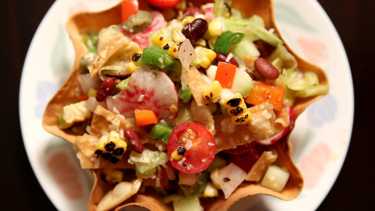 Mexican Style Salad | Healthy Salad Recipe | Ruchi\u0027s Kitchen - YouTube