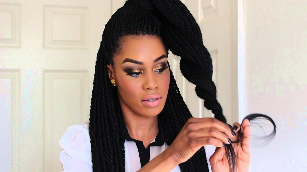 How To Style Senegalese Twists.... - YouTube