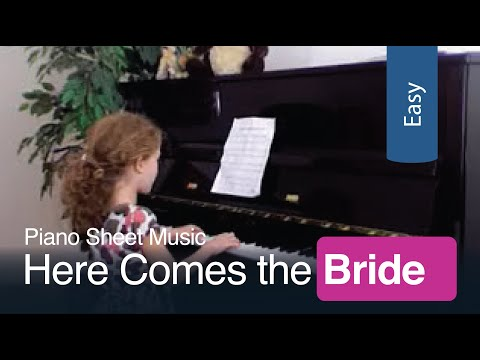 Here Comes The Bride Free Sheet Music For Beginner Piano Youtube