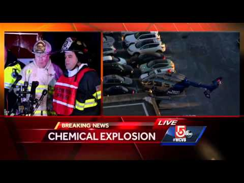 4 critically hurt in Mass. chemical plant blast