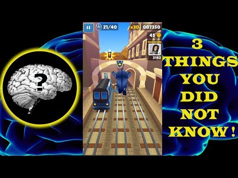 3 THINGS YOU DIDN'T KNOW YOU CAN DO IN SUBWAY SURFERS!! (Cheats! ) - [FNF]
