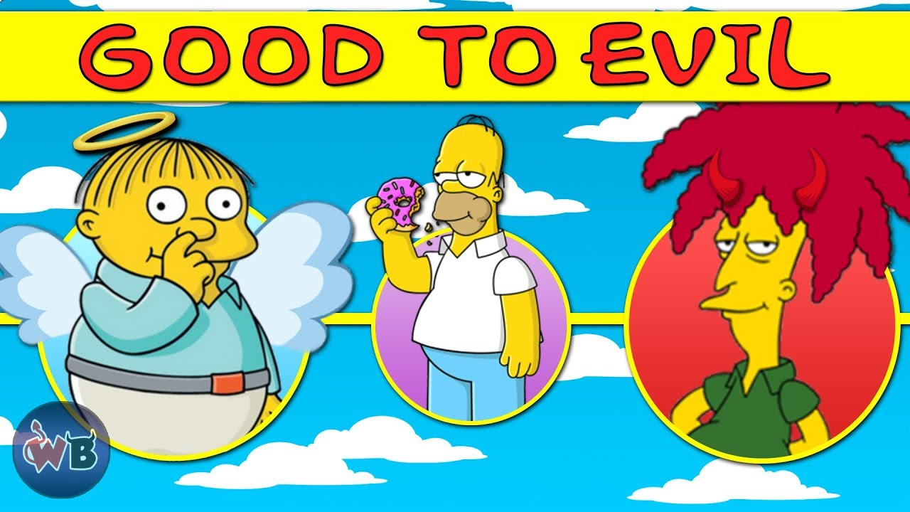 The Simpsons Characters Good To Evil Youtube